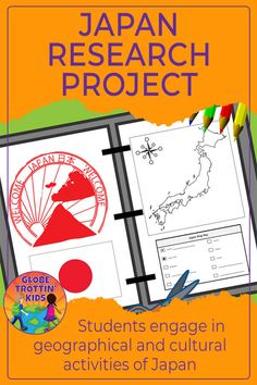 Students complete a variety of engaging activities as they research the geography and culture of Japan. Information is shared using interactive project templates that create an organized final presentation. Geography For Kids, Geography Lessons, World Geography, Japan For Kids, Cooperative Learning Groups, Book Activities, Culture Activities, Teaching Resources, Kindergarten Social Studies
