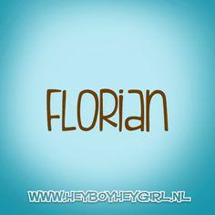 Florian (Voor meer inspiratie, en unieke geboortekaartjes kijk op www.heyboyheygirl.nl)