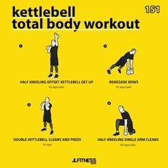 Don't Do These Common Kettlebell Mistakes Kettlebell Training, Full Body Kettlebell Workout, Full Body Workout Plan, Amrap Workout, Tabata, Workout Plans, Hiit Workouts For Men, Workout For Beginners, Conditioning Workouts