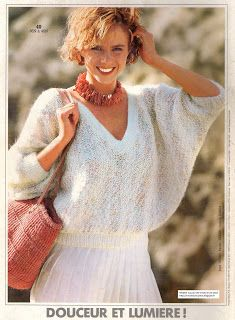 Ce bon vieux pull tube: Pull chauve-souris Diana, Vintage Knitting, Couture, Inspiration, Style, Point, Patience, Wedding, Fashion