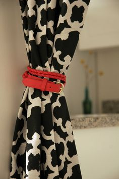 Use a Belt as a Curtain Tie back