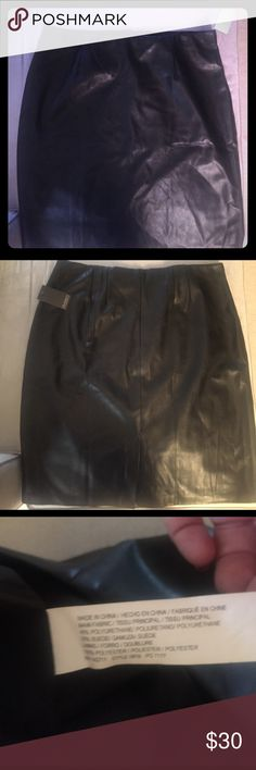 NWT Eloquii Faux Leather Pencil Skirt Plus size NWT, never worn, fully lined, faux leather skirt. So, so nice!! Rear zipper with a bit of stretch throughout Eloquii Skirts Pencil