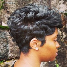STYLIST FEATURE| Love this #classic #pixiecut✂️ done by #AtlantaStylist @G_TheMidtownStylist❤️ So edgy and chic #VoiceOfHair ========================= Go To: www.VoiceOfHair.com =========================  Free eBook on Hairstyles for All Women