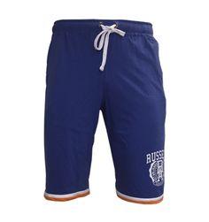 Varsity Classic: Jersey Summer Shorts with Plastisol Graphic – Blue Look 2015, Summer Shorts, Trunks, Swimming, Seasons, Classic, Swimwear, Blue, Men
