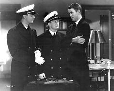 "Robert Young, Tom Brown and Jimmy Stewart in ""Navy Blue and Gold"" (1937)"
