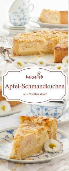 Apfelkuchen Rezept - Apfel-Schmandkuchen aus Nordfriesland. Ob auf Sylt,Föhr, Amrum oder auf dem Festland - ich habe ihn schon fast überall an der Nordseeküste gegessen.