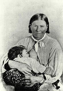Cynthia Ann Parker was a woman of European descent who had been kidnapped by the Comanche in 1836. She grew up around them and eventually married the war chief Peta Nocona and had three children. However her family never gave up hope of regaining her. At the battle of Pease River they got their wish. Cynthia along with her child was recaptured. This picture was printed in almost every paper.