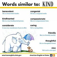 Kind in other words