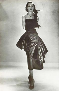 Wonderful: Germaine Lecomte gown for L'Art Et La Mode, 1950