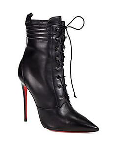 Christian Louboutin - Mado Leather Lace-Up Ankle Boots