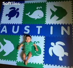 Create cute personalized play mat using SoftTiles Sea Animals. We sell each letter individually so it's easy to add your child's name to one of our mats! Playroom Flooring, Playroom Decor, Playroom Ideas, Puzzle Mat, Floor Puzzle, Lion King Baby, Sweet Child O' Mine, Kid Names, Personalized Baby