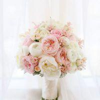 pastelowy bukiet ślubny z piwonii