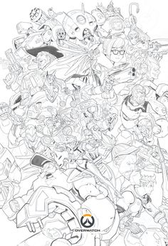 41 Meilleures Images Du Tableau Coloriage Overwatch Draw Drawings
