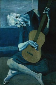 The Old Guitarist Picasso Android Wallpaper HD