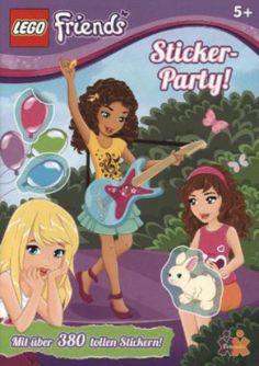 LEGO Friends: Sticker-Party!  http://www.meinspielzeug24.de/lego-friends-sticker-party  #LegoFriends, #Mädchen #Bücher, #SpieleBasteln