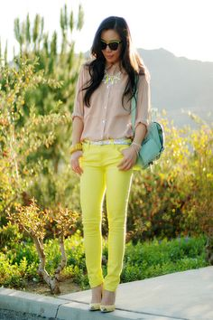 perfect balance of neon and soft colors