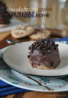 Chocolate Chip Cookie Mousse Bomb