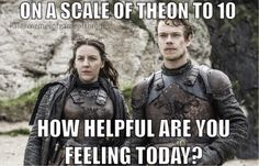 3,324 mentions J'aime, 216 commentaires – Game Of Thrones Memes (@memesofgameofthrones) sur Instagram : « Theon is like a -10 on the helpfulness scale l - - #gameofthrones #got #HBO #gameofthronesfamily… »