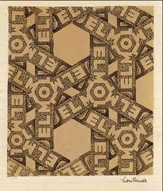 Design for Wrapping-paper: Jemoli  - M.C. Escher, 1933