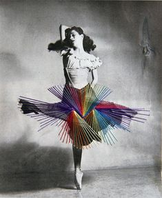 Jose Romussi - Dancer Diana Adams - Embroidery on photo (2012)