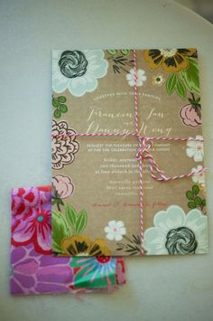 Try using a handwritten rustic style invitation for your wedding!
