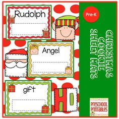 Christmas mats to use with magnetic letters!