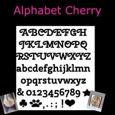 Alphabet ~ Cherry Font