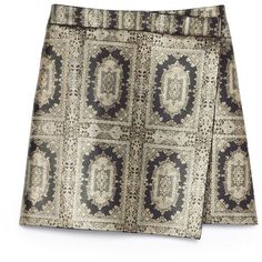 Tory Burch Rimona Skirt (525 CAD) ❤ liked on Polyvore featuring skirts, bottoms, gonne, wrap around skirt, tory burch skirts, tory burch, brown skirt и wrap skirt