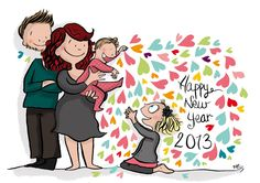 Happy New Year 2013 Illustration blog Crayon d'Humeur http://crayondhumeur.blogspot.fr/