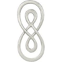 Sterling Silver Double Wire Infinity Link -23mm