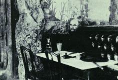 Paul Verlain (Metz, 1844-París, 1896) en el café Procope de París. Colección de R. Violet. Peote francés, maestro del decadentismo y principal precursor del simbolismo.