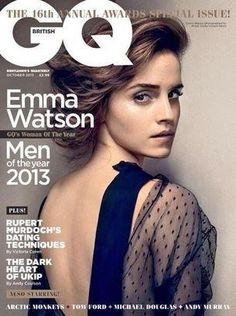 Who made Emma Watson's black dot mesh top that she wore on the cover of GQ magazine? Dress – Emilio Pucci