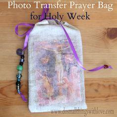 DIY Photo-Transfer Prayer Book Bag