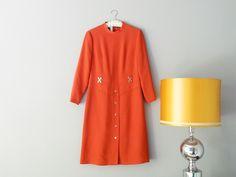 Vintage Twiggy KLEID 1960 orange // vintage orange twiggy dress by mr-and-mrs-who via DaWanda.com