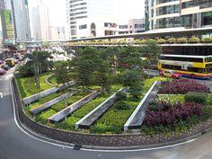 Roundabout Landscaping Design Pictures and Ideas on Pro Landscape Landscape Plaza, Urban Landscape, Landscape Architecture, Landscape Design, Ecology Design, Planting Plan, Urban Fabric, Parking Design, Island Design