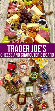 Head to your local Trader Joe's and pick up the supplies to create the ultimate appetizer or Charcuterie Board for the perfect party food. Here are my Trader Joe's Favorites. Charcuterie Recipes, Charcuterie And Cheese Board, Charcuterie Platter, Cheese Boards, Charcuterie Lunch, Snacks Für Party, Appetizers For Party, Individual Appetizers, Trader Joe's Appetizers