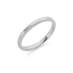 Our beautiful #Platinum 2mm Cambridge beaded edge #wedding #ring   #jewellery #weddingband