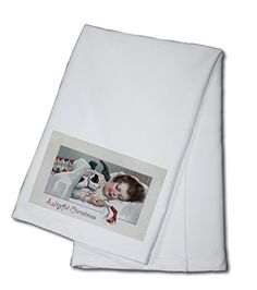 A Joyful Christmas  Boy Sleeping with Puppy 100 Cotton Kitchen Towel >>> Details can be found by clicking on the affiliate link Amazon.com.