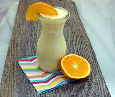 Orangen, Buttermilch, Drink, Durstlöscher, gesund, erfrischend, nach Sport, Rezept, schnel Butter, Orange, Hurricane Glass, Sport, Drinks, Tableware, Milk, Healthy, Recipe