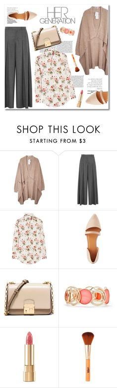 """flower power"" by limass ❤ liked on Polyvore featuring J.Crew, Yves Saint Laurent, Charlotte Russe, Michael Kors, New Directions and Dolce&Gabbana"