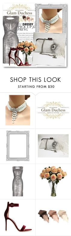 Glam Duchess 6 by fashionmonsters on Polyvore featuring Hervé Léger, Gianvito Rossi, Urban Decay, Paperchase and Nearly Natural