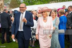 Vice President of Barnardo's Bruce Oldfield and Camilla, Duchess of Cornwall attend a garden party at Buckingham Palace in honour of children's charity, Barnardo's 150th anniversary on May 12, 2016. Photo by Dominic Lipinski - WPA Pool/Getty Images)