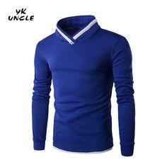 Hot Sale 2016 New Arrival Mens Fleece Sweatshirt Fashion Solid Color Slim Fit Pullover Pillow Collar Men's Sweatshirts,YK UNCLE #Affiliate