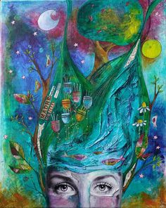 """Madre Natura"" by Elisa Zampieri, 50x70, mixed media on canvas, 2017"