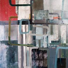 oil on canvas, would also work as diptych with S C, to come. Structural, textural abstract with fridge box curves.