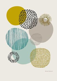 Sort Of Circles Open Edition Giclee Print Etsy - Sort Of Circles Is A Print Based On My Textural Drawings Of Circular Shapes The Emphasis Is Very Much On Colour And Pattern And Their Relationships To Each Other Colours Used In This Print Include Grafik Design, Art Plastique, Textures Patterns, Prints And Patterns, Zentangle, Printmaking, Canvas Wall Art, Art Projects, Illustration Art