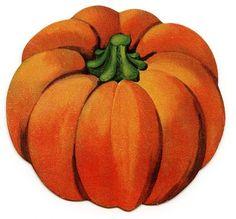Vintage Halloween Clip Art - Cute Little Pumpkin - The Graphics Fairy