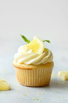 lots of fresh lemon zest along with lemon juice and vanilla extract