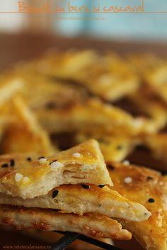 Biscuiti cu bere si cascaval | Laura Laurențiu Pizza Recipes, Cooking Recipes, Biscotti, Apple Pie, Snacks, Health, Desserts, Food, Party