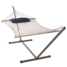 Home Makeover  Sundale Outdoor Cotton Rope Hammock with 12 Feet Steel Stand and Pillow Combo * This is an Amazon Associate's Pin. Detailed information can be found on the website by clicking  the VISIT button.